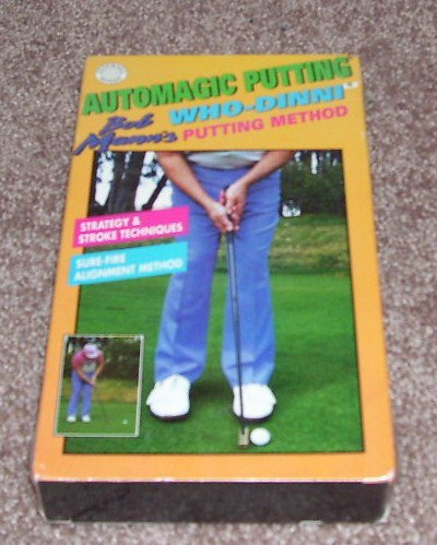 AUTOMAGIC PUTTING Bob Mann's Who Dinni Method VHS NEW!