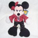Disney Rock 'n Roll MINNIE MOUSE Bean Bag Plush NEW WITH TAG