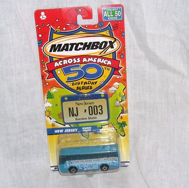 Matchbox Across America NEW JERSEY Diecast Ikarus Coach