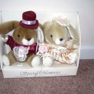 Special Memories EASTER BUNNIES Plush Doll Set NEW IN BOX! 1991