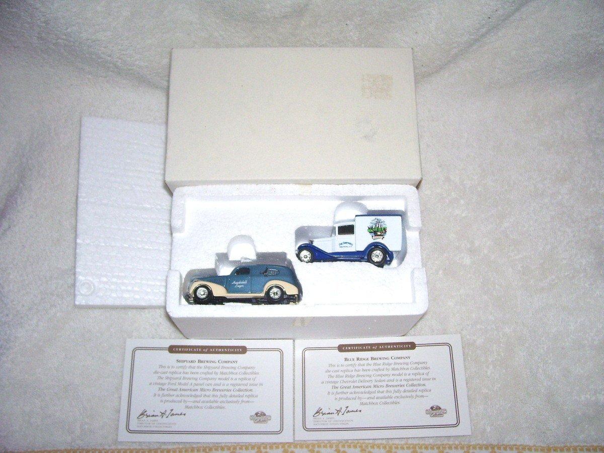 Matchbox GREAT AMERICAN MICRO BREWERIES 2 Diecast Truck Set SHIPYARD & BLUE RIDGE BREWERIES NIB