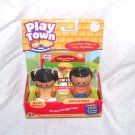 Learning Curve Play Town MARIA & PEDRO Real WOODEN Play Figures NEW!