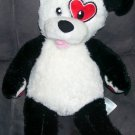 Build A Bear Workshop KISSES FUR YOU Black & White Puppy Plush 16""