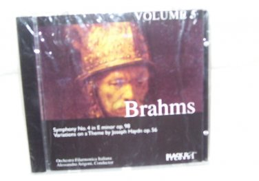 BRAHMS Volume 5 Music CD NEW! OVER 1 HR OF MUSIC!