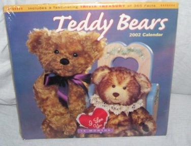 Teddy Bears 2002 Collector 16 Month Wall Calendar NEW!