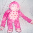 Build A Bear Workshop PINK HEARTS HUGS FOR YOU MONKEY Plush 18""