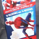 The Amazing SPIDER-MAN 2 - 16 Valentines with 16 Notepads NEW!