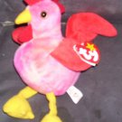 Ty STRUT The Rooster Beanie Baby NEW WITH TAG! 1996