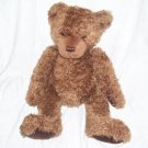 "Gund CORDUROY PAWS Brown Bear Plush 11"" Sitting, 15"" Long"
