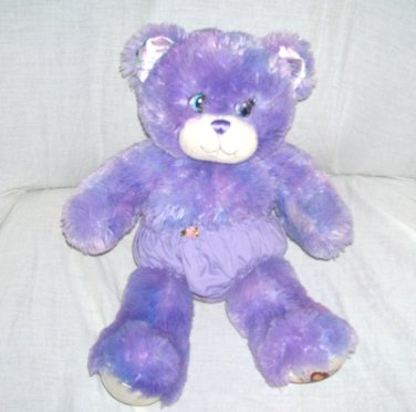 Build A Bear WIZARDS OF WAVERLY PLACE Purple Plush Bear with Underwear 16""