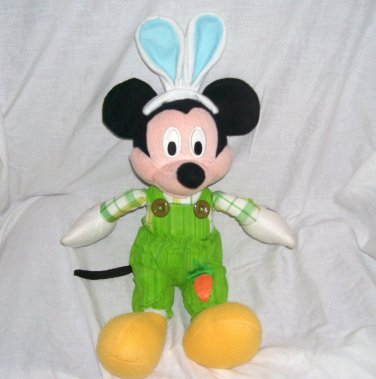 "Disney Mickey Mouse with Easter Ears 19"" tall Kcare Weighted Plush"