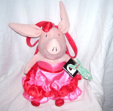 "OLIVIA Flamenco Plush HANDBAG 18"" From 2011 NEW WITH TAGS!"