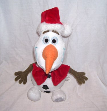 The Disney Store Frozen OLAF Christmas Santa Plush 11""