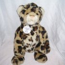"Build A Bear Workshop World Wildlife Fund Collectibears LEOPARD Plush 2002 12"" Sitting"