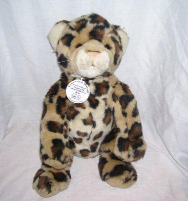 "Build A Bear Workshop World Wildlife Fund Collectibears LEOPARD Plush 2002 12"" Sitting"