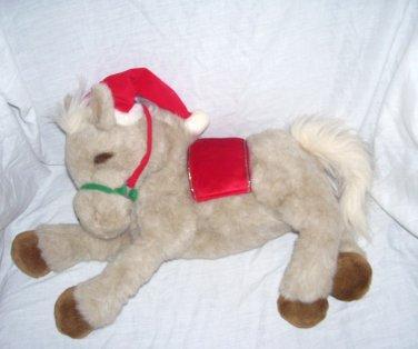 "Dakin Applause Huggables HOLLY The Horse Christmas Plush 21"" Long #56288"