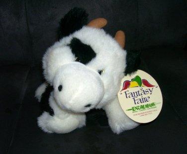 """Circus Circus Excalibur Las Vegas SOFT COW Plush w/Tag 12"""" RARE"""