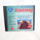 KNITTING MADE EASY Interactive CD-ROM for PC NEW! 2002