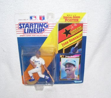 Starting Lineup JUAN GONZALEZ Action Figure 1992 w/Poster NEW!