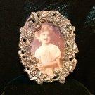 Vintage Miniature Photo Frame Embossed Roses