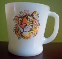 Fire King Tiger Advertising Mug Anchor Hocking