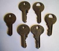 6 Vintage Master Lock Keys- One Lion Key and Others