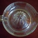 Vintage Clear Glass Grapefruit Reamer Large Juicer