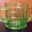 Green Open Sugar Hazel Atlas Depression Glass