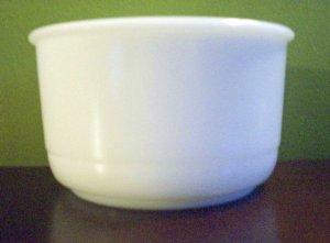 White Milk Glass Grease Bowl