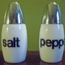 Vintage White Milk Glass Salt and Pepper Shakers