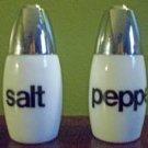 Vintage White Milk Glass Salt and Pepper Shakers