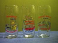 Set of 3 1950's Style McDonald's Glasses