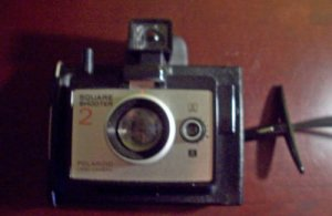 Polaroid Square Shooter 2 Land Camera w/ Cold Clip