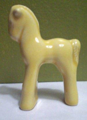 Vintage Retro Yellow Horse Pony Figurine