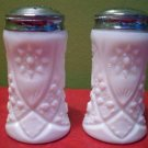 2 Milk White Glass Salt and Pepper Shakers
