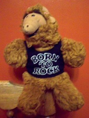 "Alf ""Born to Rock"" plush hand puppet 1980s TV Sitcom"