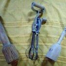 2 Wooden Pestles and Metal Hand Mixer w/ Wooden Handles