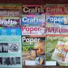13 Back Issues of Various Paper Craft Mags Cards & More