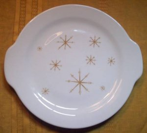 Star Glow by Royal China Tabbed Handle Cake Plate 1960'