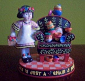 Mary Engelbreit Life Is A Chair of Bowlies Figurine