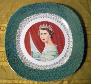 Queen Elizabeth II Coronation Plate Taylor Smith Taylor