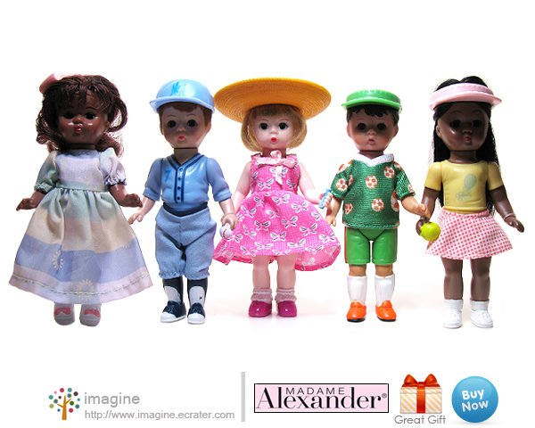 Half Set of Madame Alexander Dolls from McDonalds 2005 - 5 Doll Lot