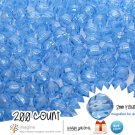 200 Cornflower Blue Colored Acrylic / Plastic Faceted Beads 2mm Round Facet Style Loose Bead Lot