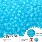 200 Cerulean Aqua Blue Colored Acrylic / Plastic Faceted Beads 2mm Round Facet Style Loose Bead Lot