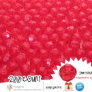 200 Gorgeous Red Colored Acrylic / Plastic Faceted Beads 2mm Round Facet Style Loose Bead Lot