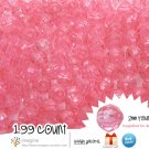 199 Gorgeous Pink Colored Acrylic / Plastic Faceted Beads 2mm Round Facet Style Loose Bead Lot