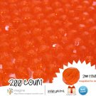 200 Gorgeous Orange #2 Colored Acrylic / Plastic Faceted Beads 2mm Round Facet Style Loose Bead Lot