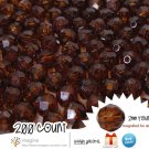 200 Root Beer Brown Colored Acrylic / Plastic Faceted Beads 2mm Round Facet Style Loose Bead Lot