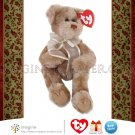"Retired TY Attic Treasures Collection BEVERLY Tan Teddy Bear 8"" Plush Stuffed Animal NWT Christmas"