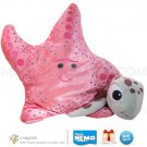 Disney Pixar Finding Nemo Lot PEACH Starfish and SQUIRT Turtle Plush Stuffed Animal Beanie Figures